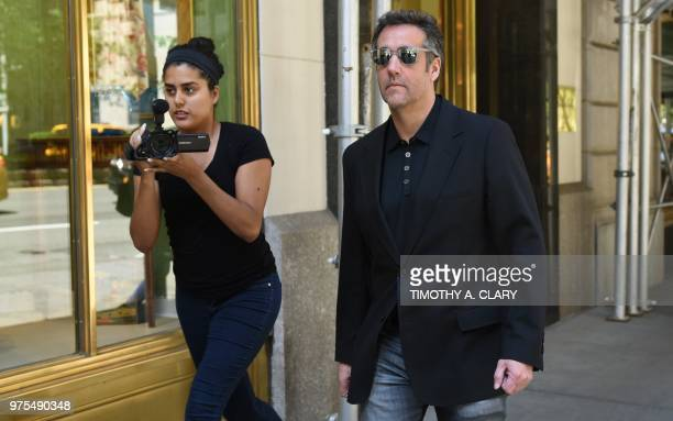 Michael Cohen President Donald Trumps personal lawyer walks down Park Avenue in New York June 15 2018 after leaving his hotel President Donald...
