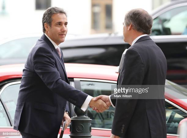 Michael Cohen President Trump's personal lawyer arrives at the Hart Senate Office Building to be interviewed by the Senate Intelligence Committee on...