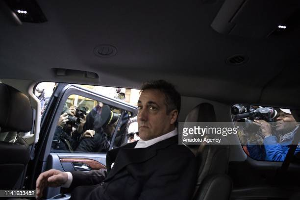 Michael Cohen, the former lawyer for US President Donald Trump, leaves his apartment to begin serving a three-year sentence at a federal prison in...