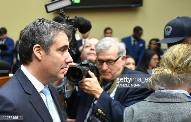 Michael Cohen US President Donald Trump's former personal attorney arrives for the House Oversight and Reform Committee in the Rayburn House Office...
