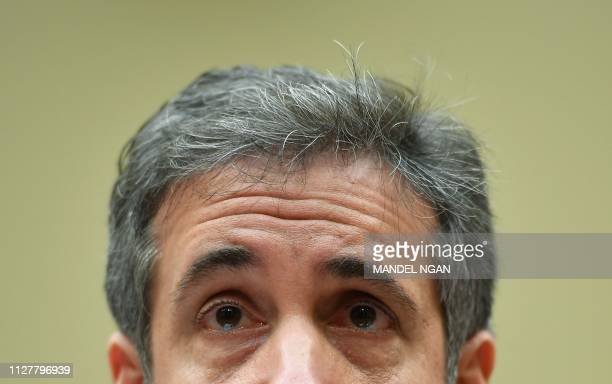 Michael Cohen US President Donald Trump's former personal attorney testifies before the House Oversight and Reform Committee in the Rayburn House...