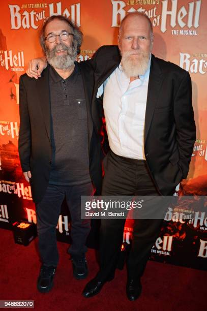 Michael Cohl and Rony Smith attend the Gala Night after party for 'Bat Out Of Hell The Musical' at the Bloomsbury Ballroom on April 19 2018 in London...