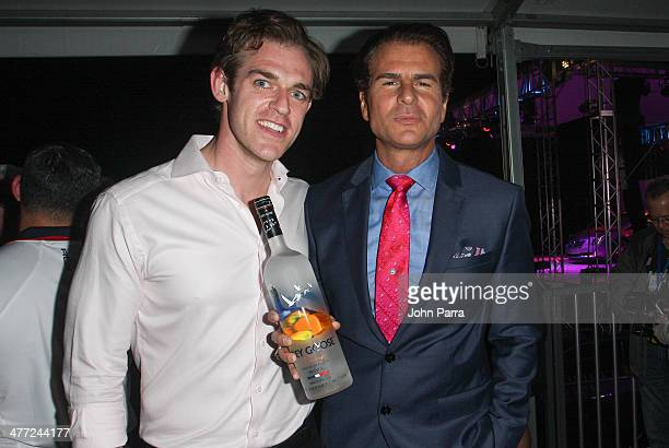 Michael Coleman and Vincent De Paul attend the Carolina Herrera Fashion Show with GREY GOOSE Vodka at the Cadillac Championship at Trump National...