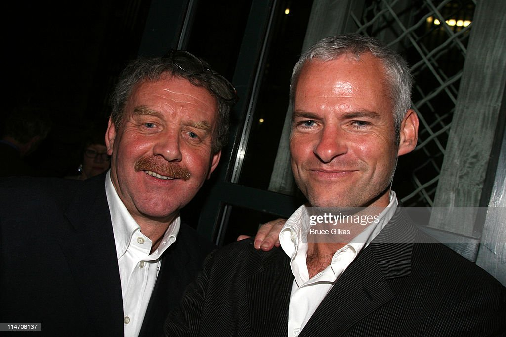 Michael Colgan and Martin McDonagh during Opening Night for Brian Friel's 'Faith Healer' on Broadway - May 4, 2006 at The Booth Theater in New York City, New York, United States.