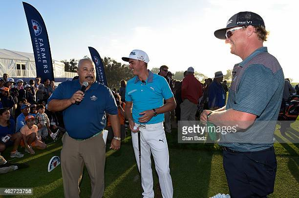Michael Collins Charley Hoffman and Rickie Fowler hosted the Tee It Up for Kids Youth Golf Clinic for the Farmers Insurance Open at Torrey Pines Golf...