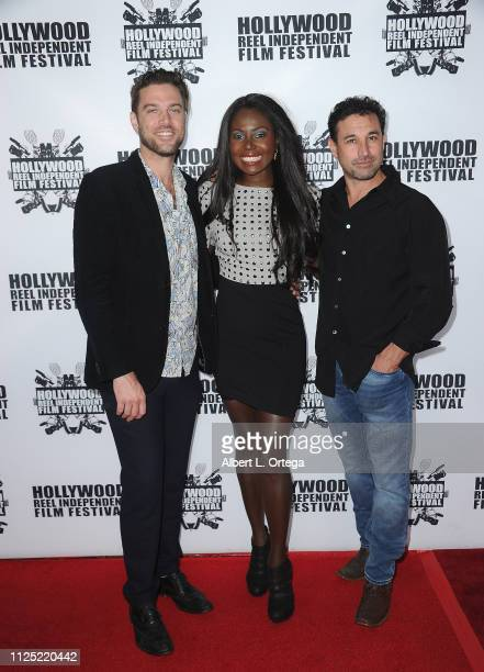 Michael Collins Denise Milfort and Frain Rosanoff arrive for The 2019 Hollywood Reel Independent Film Festival held at Regal LA Live Stadium 14 on...