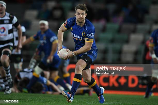 Michael Collins of Otago during the round three Mitre 10 Cup match between Hawke's Bay and Otago at McLean Park on August 22 2019 in Napier New...