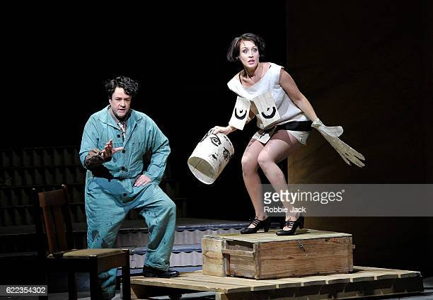 Michael Colvin as Painter and Brenda Rae as Lulu in English National Opera's production of Alban Berg's 'Lulu' directed and designed by William...