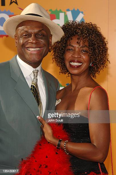 Michael Colyar and guest during 2005 BET Comedy Awards Arrivals at Pasadena Historic Civic Center in Pasadena California United States