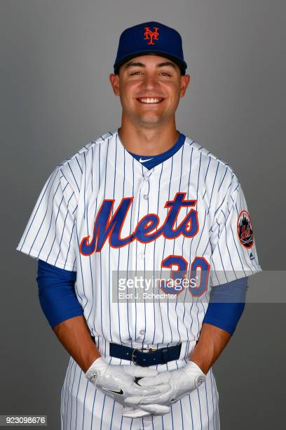Michael Conforto of the New York Mets poses during Photo Day on Wednesday February 21 2017 at Tradition Field in Port St Lucie Florida
