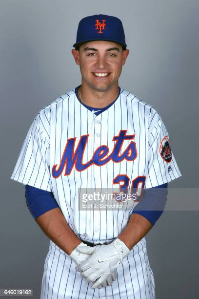 Michael Conforto of the New York Mets poses during Photo Day on Wednesday February 22 2017 at Tradition Field in Port St Lucie Florida