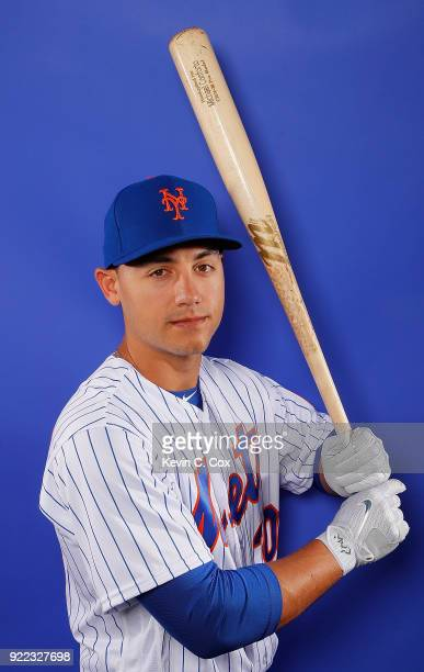 RY 21 Michael Conforto of the New York Mets poses for a photo during photo days at First Data Field on February 21 2018 in Port St Lucie Florida