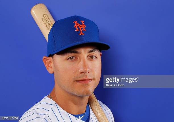 RY 21 RY 21 Michael Conforto of the New York Mets poses for a photo during photo days at First Data Field on February 21 2018 in Port St Lucie Florida