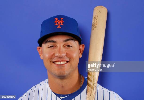 RY 21 RY 21 RY 21 RY 21 Michael Conforto of the New York Mets poses for a photo during photo days at First Data Field on February 21 2018 in Port St...