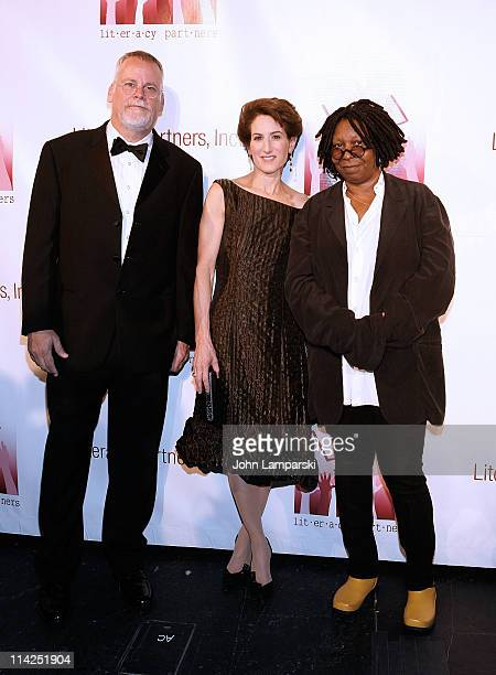 Michael Connelly Stacy Schiff and Whoopi Goldberg attend Literacy Partners' 27th annual Evening of Readings gala at David H Koch Theater Lincoln...