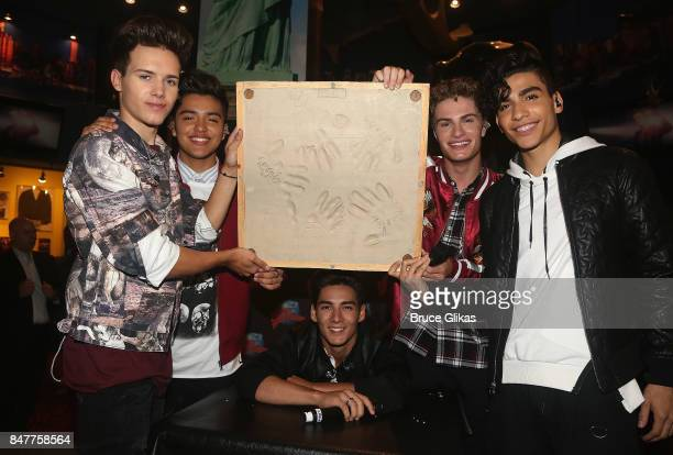 Michael Conor Sergio Calderon Chance Perez Brady Tutton and Drew Ramos of the group 'In Real Life' the grand prize winner of ABC's 'Boy Band'...