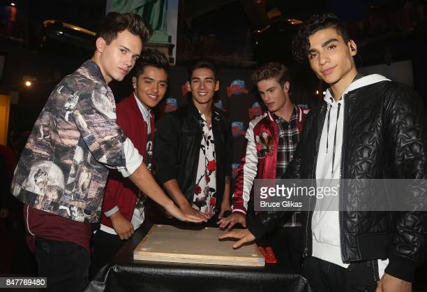 Michael Conor Sergio Calderon Chance Perez Brady Tutton and Drew Ramos of the group 'In Real Life' the grand prize winner of ABC's 'Boy Band' visit...