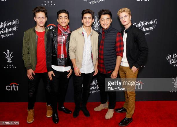 Michael Conor Sergio Calderon Drew Ramos Brady Tutton and Chance Perez of In Real Life at A California Christmas at the Grove Presented by Citi on...
