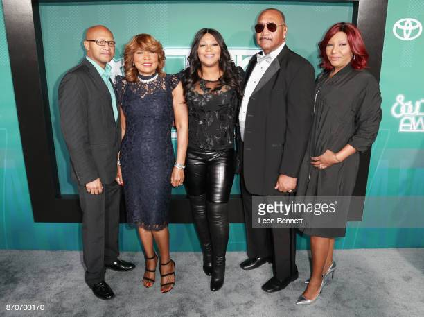 Michael Conrad Braxton Jr Evelyn Braxton Trina Braxton Michael Conrad Braxton and Traci Braxton attend the 2017 Soul Train Awards presented by BET at...