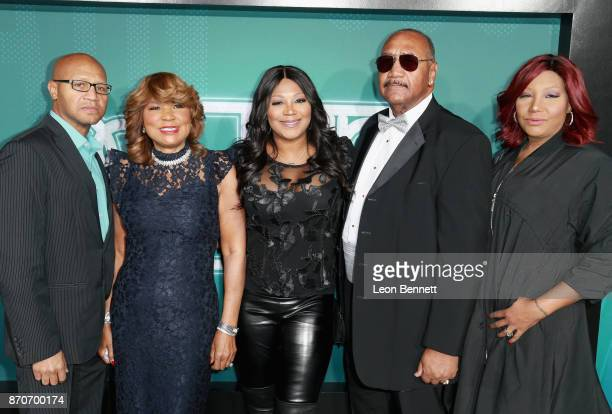 Michael Conrad Braxton Jr., Evelyn Braxton, Trina Braxton, Michael Conrad Braxton, and Traci Braxton attend the 2017 Soul Train Awards, presented by...