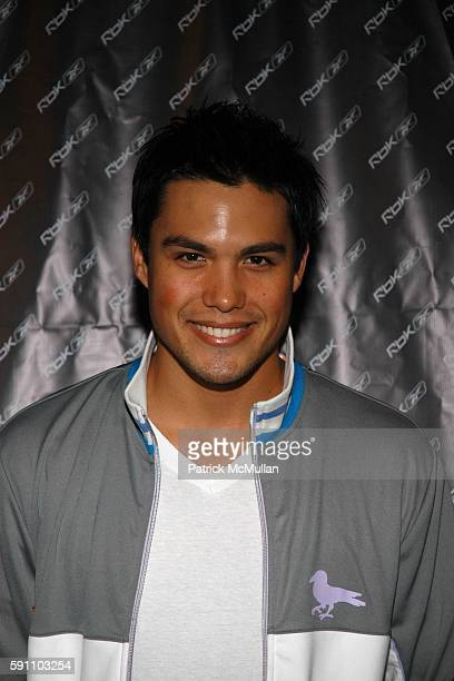 Michael Copon attends Reebok welcomes the VAULT at Sportie LA on April 21 2005 in Los Angeles California