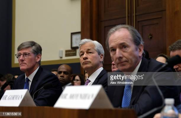 Michael Corbat chief executive officer of Citigroup Inc Jamie Dimon chief executive officer of JPMorgan Chase Co and James Gorman chief executive...