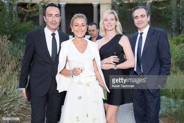 Michael Coste Claire Duroc Danner and guests arrive for the amfAR Paris Dinner at Le Petit Palais on July 2 2017 in Paris France
