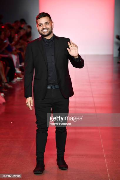 Michael Costello walks the runway at the Michael Costello show during New York Fashion Week The Shows at Gallery II at Spring Studios on September 7...
