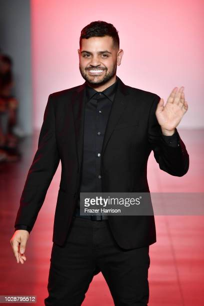 Michael Costello walks the runway at the Michael Costello show during New York Fashion Week: The Shows at Gallery II at Spring Studios on September...