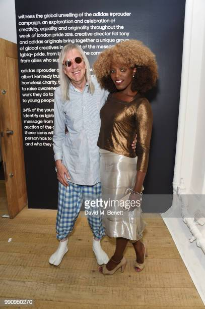Michael Costiff and Winn Austin attend adidas 'Prouder' A Fat Tony Project in aid of the Albert Kennedy Trust supporting LGBT youth at Heni Gallery...
