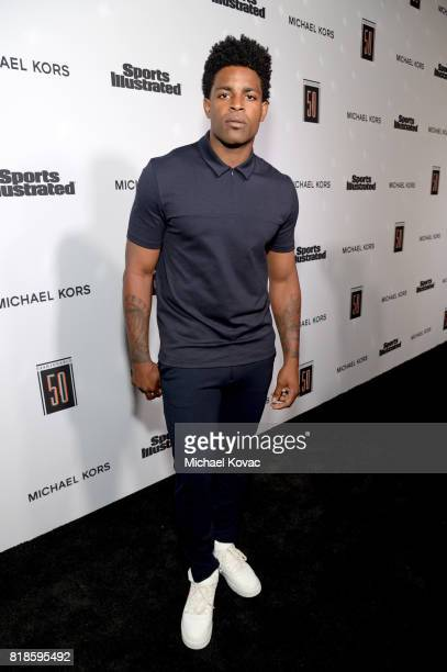 Michael Crabtree at Sports Illustrated 2017 Fashionable 50 Celebration at Avenue on July 18 2017 in Los Angeles California