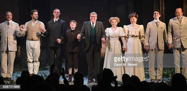 Michael Crawford and cast take the curtain call at the press night of The GoBetween at The Apollo Theatre on June 7 2016 in London England