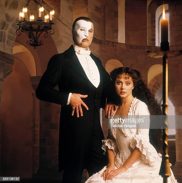 Michael Crawford and Sarah Brightman in costume for Phantom of the Opera