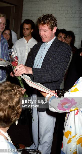 """Michael Crawford during Michael Crawford Sighting Outside """"The Phantom of the Opera"""" - August, 1988 in New York City, United States."""