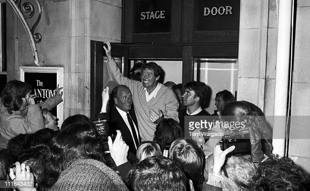 Michael Crawford during The Phantom Of The Opera Final Performance at Her Majesty's Theatre - October 10, 1987 at Her Majesty's Theatre in London,...