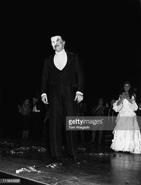 Michael Crawford during The Phantom Of The Opera Final Performance at Her Majesty's Theatre October 10 1987 at Her Majesty's Theatre in London Great...