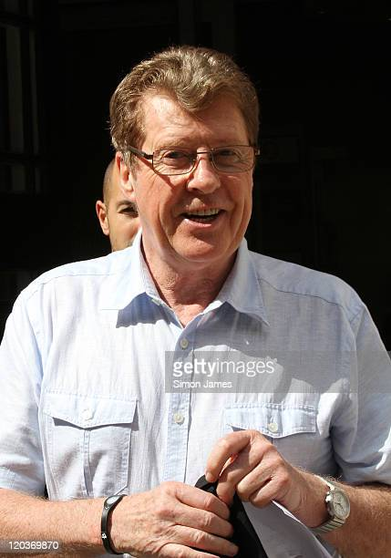 Michael Crawford leaves BBC Radio Two studios on August 5 2011 in London England