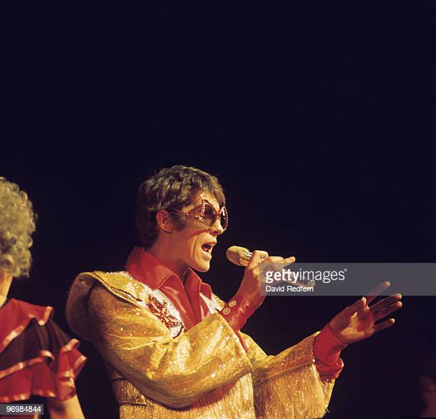 Michael Crawford performs on stage at the Royal Variety Performance in 1975.