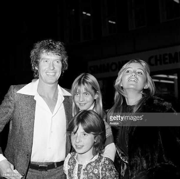 Michael Crawford with his children Emma and Lucy and Susan George December 1977