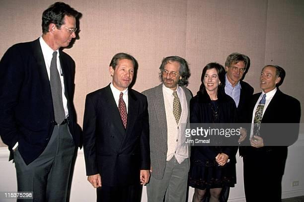 Michael Crichton Michael Ovitz Steven Spielberg Kathleen Kennedy Harrison Ford and Frank Marshall