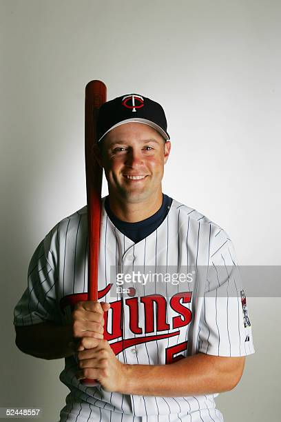 Michael Cuddyer poses for a portrait during the Minnesota Twins Portrait Day on February 28 2005 at Hammond Stadium in Ft Myers Florida