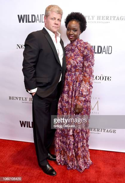 Michael Cudlitz and Danai Gurira arrive at An Evening in China with WildAid at the Beverly Wilshire Four Seasons Hotel on November 10 2018 in Beverly...