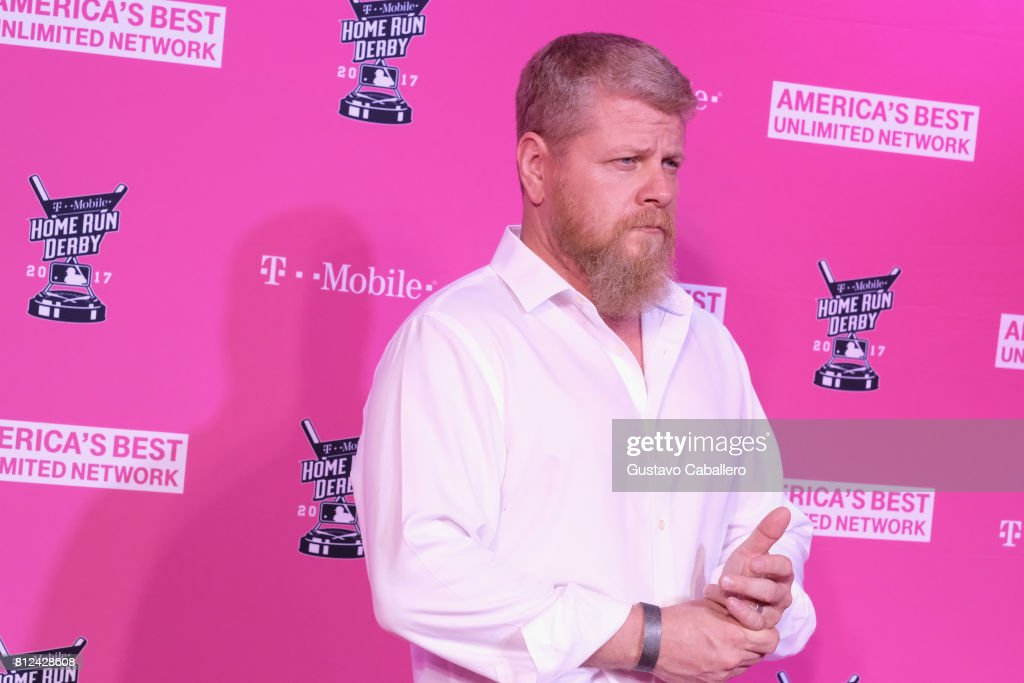 Michael Cudlitz arrives at the T-Mobile Presents Derby After Dark at Faena Forum on uly 10, 2017 in Miami Beach, Florida.