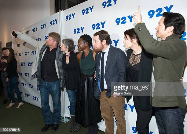 Michael Cudlitz Melissa McBride Danai Gurira Scott M Gimple Lauren Cohan and Steven Yeun attend 'The Walking Dead' screening and conversation at 92nd...
