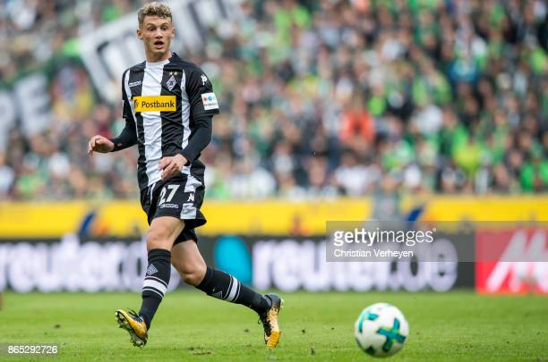 Michael Cuisance of Borussia Moenchengladbach controls the ball during the Bundesliga match between Borussia Moenchengladbach and Bayer 04 Leverkusen...