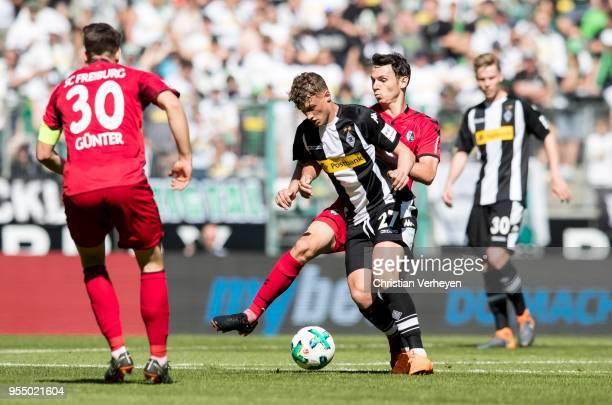 Michael Cuisance of Borussia Moenchengladbach during the Bundesliga match between Borussia Moenchengladbach and SC Freiburg at BorussiaPark on May 05...