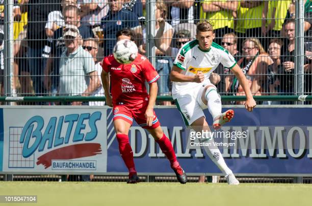 Michael Cuisance of Borussia Moenchengladbach in action during the preseason friendly match between Borussia Moenchengladbach and Espanyol Barcelona...