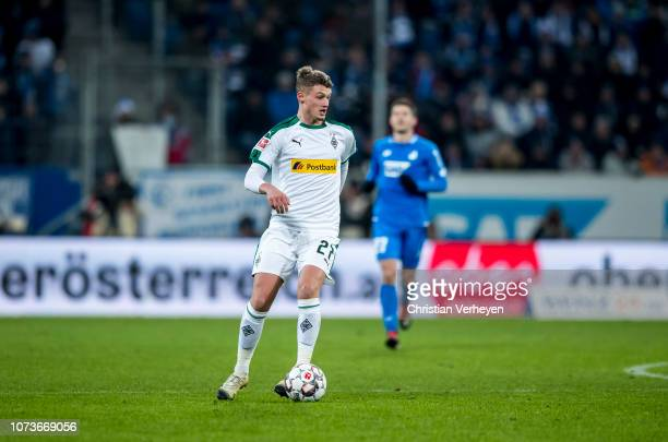 Michael Cuisance of Borussia Moenchengladbach in action during the Bundesliga match between TSG 1899 Hoffenheim and Borussia Moenchengladbach at...