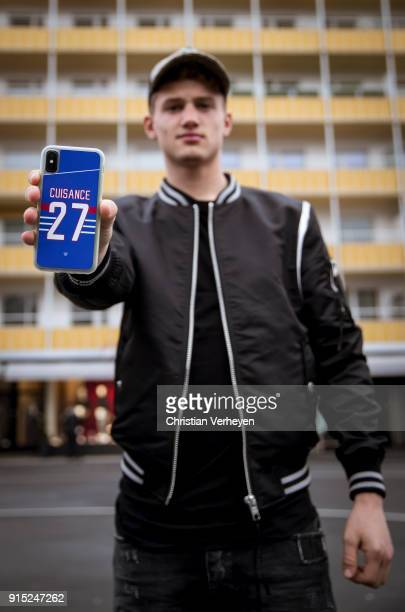 Michael Cuisance of Borussia Moenchengladbach pose during a portrait session on January 22 2018 in Moenchengladbach Germany