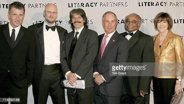 Michael Cunningham, Augusten Burroughs, Rich Prestia, Mayor Michael Bloomberg, Wallace Murray and Nora Ephron